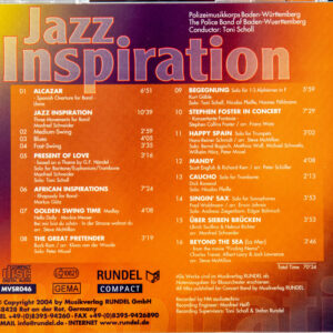CD Cover Rückseite Jazz Inspiration
