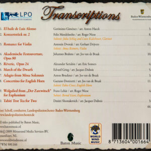 CD Cover Rückseite Transcriptions